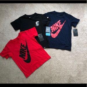 Boys size 7 Nike tees NWT